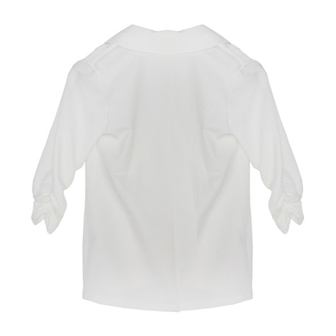 SophieB Off White Rouched Sleeve Jacket