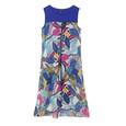 SophieB Blue Shoulder Floral Print Long Dress