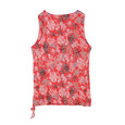 SophieB Red Floral Sleeveless Summer Top