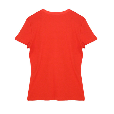 Twist Red Henley Diamante Shoulder Top