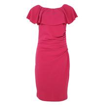 Zapara Pink Bardot Neckline Dress
