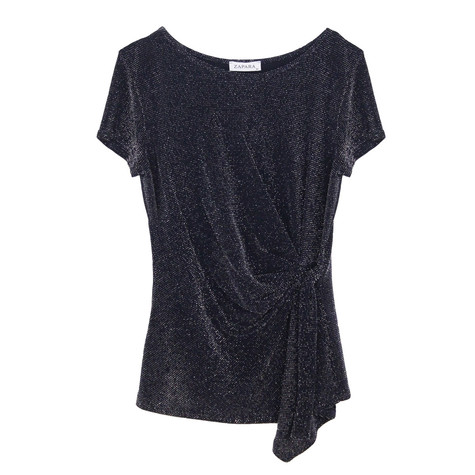 Zapara Black Glitter Clemence Top