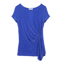Zapara Royal Blue Clemence Glitter Top