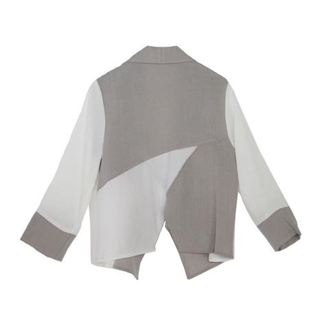 SophieB Colour Block Asymmetrical Linen Jacket