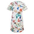Zapara White Floral Pattern Dress