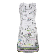 Chetta B Paris Themed Boat Print Dress