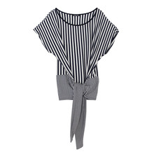 SophieB Big Tie Navy Stripe Top