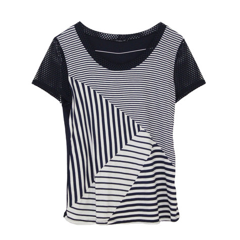 SophieB Navy Abstract Stripe Top