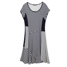 SophieB Navy Stripe Round Neck Dress