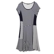 SophieB Navy Stripe Round Neck Dress