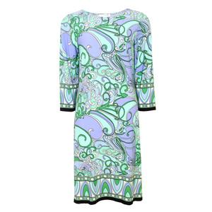 London Times Mint Floral Print Dress