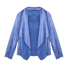 SophieB Royal Blue Faux Leather Jacket
