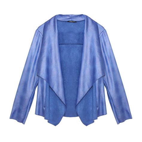 SophieB Royal Blue Faux Leather Jacket