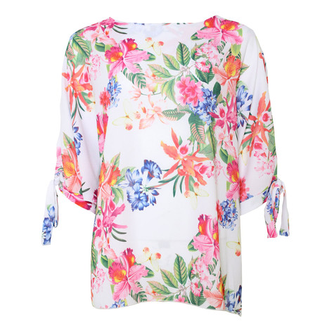 SophieB Cream Floral Waffle Top