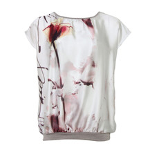SophieB Pink and Cream Digital Print Top