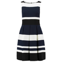 Lauren by Ralph Lauren Navy & Ivory Stripe Dress