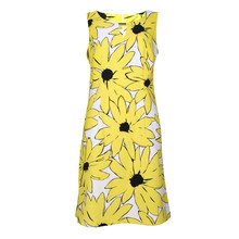 Ronni Nicole White & Yellow Sunflower Print Dress - NOW €45 -