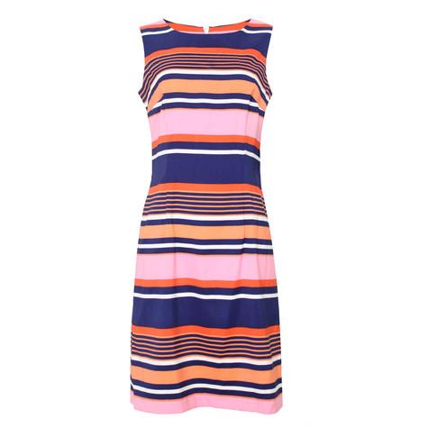 Ronni Nicole Navy & Coral Stripe Dress