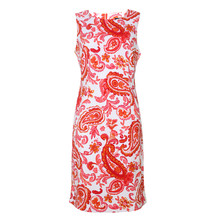 Ronni Nicole White & Orange Paisley Print Dress