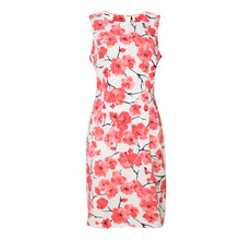 Ronni Nicole White & Coral Sleeveless Dress - NOW €45 -