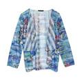 SophieB Blue Multi Print Drape Jacket
