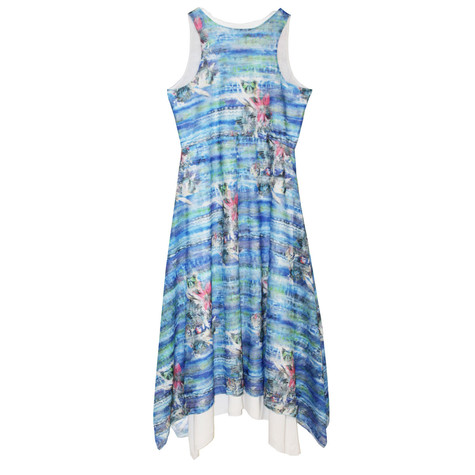SophieB Long Blue Double Layer Dress