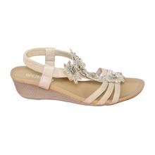 Libra Pop Beige Floral Detail Sandal