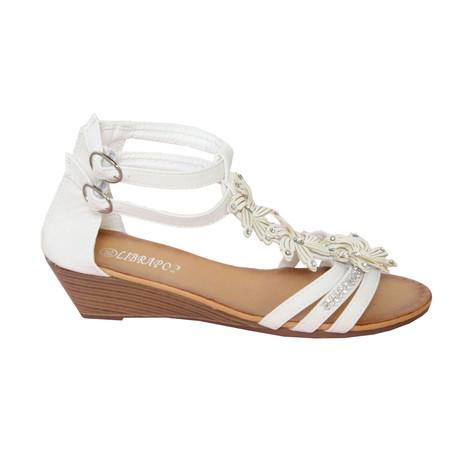 37300ec3e909 Libra Pop White Floral Sandal