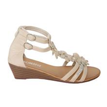 Libra Pop Beige Floral Sandal