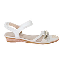 Libra Pop White Diamante Sandal