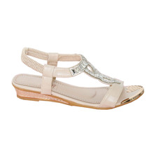 Libra Pop Beige Diamante Sandal