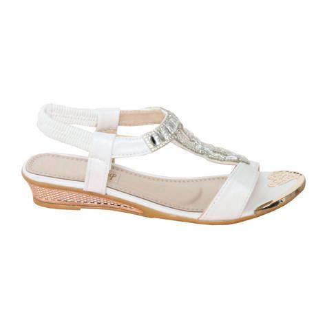 ce32e415d79b Libra Pop White Diamante Sandal
