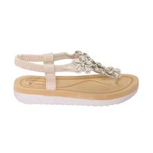 Libra Pop Beige T Bar Floral Sandal
