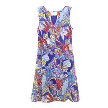 Ronni Nicole Blue & White Floral Sleeveless Dress