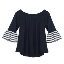 Zapara Barbot Style Navy Top