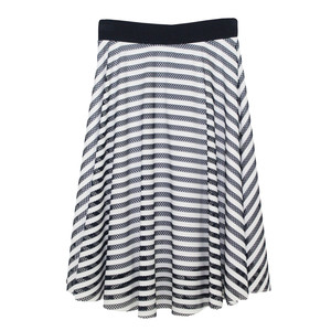 Zapara Navy & White Swing Skirt