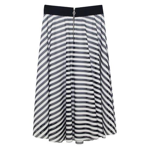 Zapara Navy & White Swing Skirt