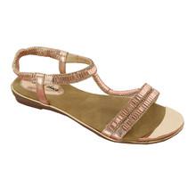 Style Shoes Gold T Bar Diamante Sandals