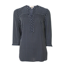 Tinta Style Navy Loose Stripe Blouse