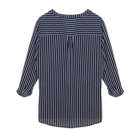 Tinta Style Navy Loose Stripe Blouse