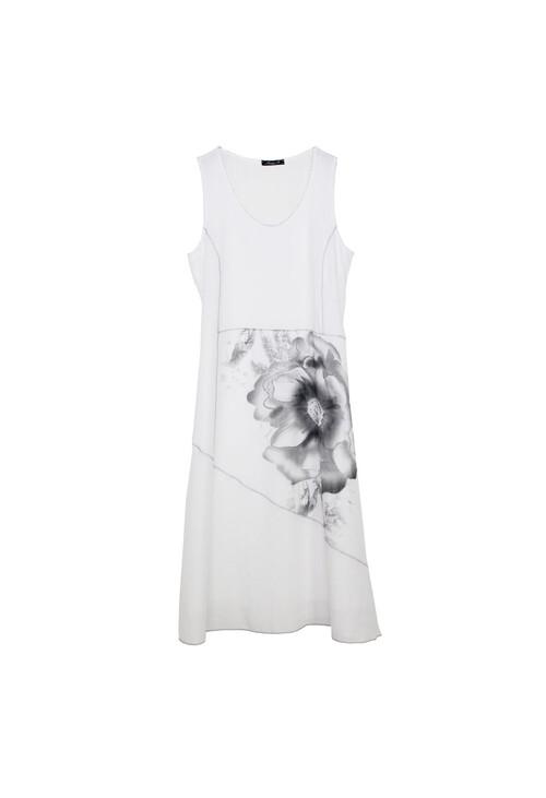Sophie B Off White Flower Detail Dress