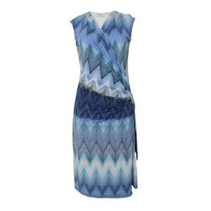 Zapara Blue & Turquoise Wrap Dress