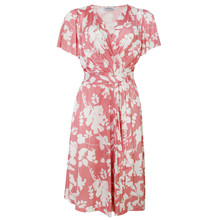 Zapara Pink & White Floral Belt Detail Dress