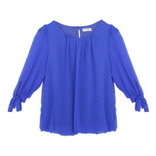 Zapara Royal Blue Love Heart Detail Blouse