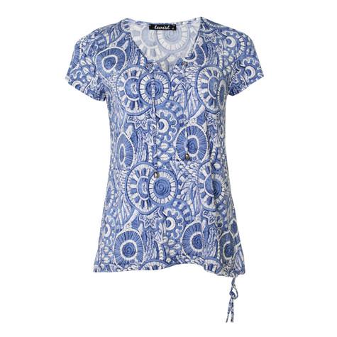 Twist Flamenco Mosaic Blue Top