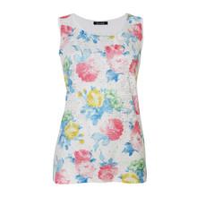 SophieB White Multi Floral Print Vest