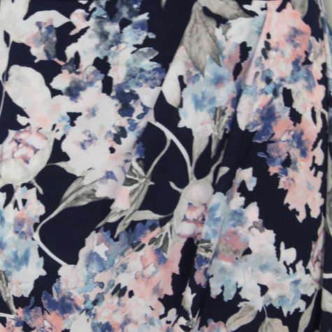 Zapara Navy & White Floral Dress
