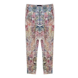 SophieB Off White Paisley Pattern Trousers