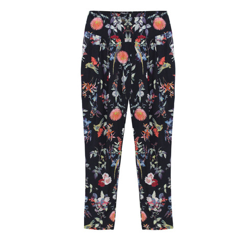 SophieB Navy Floral Print Trousers