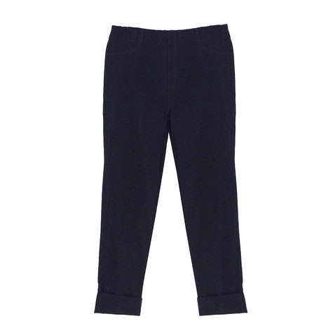Twist Navy Turn Up Trousers